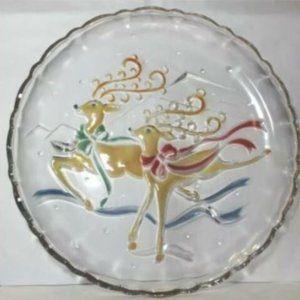 "Mikasa Reindeer 14"" Round Christmas Platter"